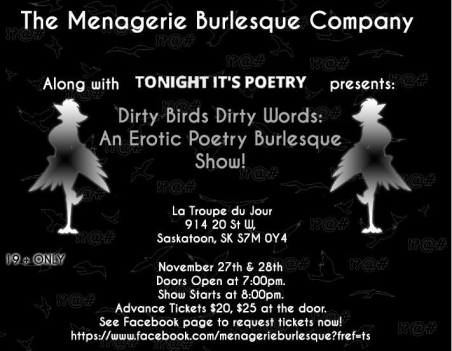 Dirty Birds - Dirty Words : an Erotic Poetry! Burlesque! StoryTelling! Show